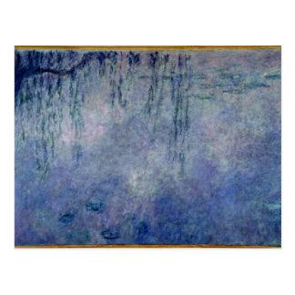 クロード・モネ|の《植物》スイレン: 残っているシダレヤナギ ポストカード