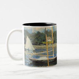 クロード・モネ|アルジャントゥーユの橋 ツートーンマグカップ