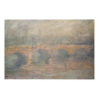 クロード・モネ ウォータールー橋、日没のロンドン、 ウッドウォールアート