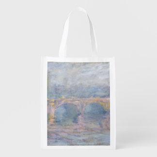 クロード・モネ|ウォータールー橋、日没のロンドン、 エコバッグ