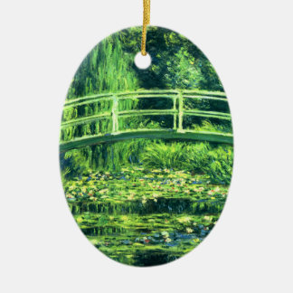 クロード・モネ: スイレンの池上の橋 セラミックオーナメント