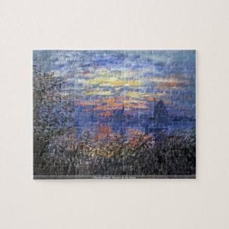 クロード・モネ-セーヌ河のパズルの日没 ジグソーパズル