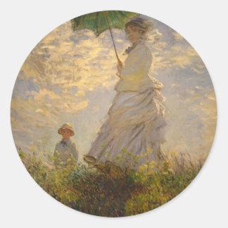 クロード・モネ: パラソルを持つ女性、1875年 ラウンドシール
