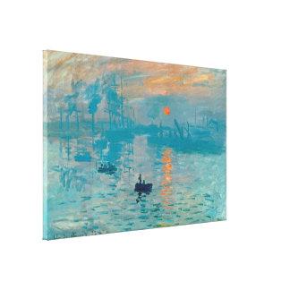 クロード・モネ-印象、日の出1872年 キャンバスプリント