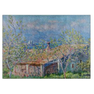 クロード・モネ: 庭師はアンティーブで収容します カッティングボード