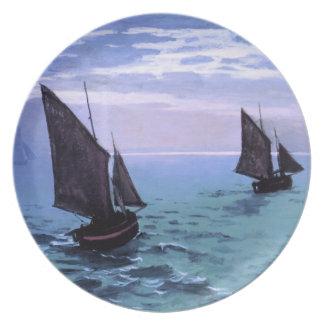 クロード・モネ: 方法の漁船 プレート