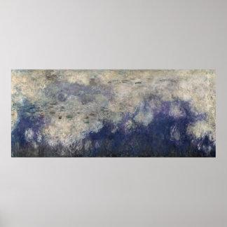 クロード・モネ| 《植物》スイレン雲1915-26年 ポスター