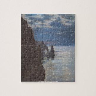 クロード・モネ-海および空の大会のパズル ジグソーパズル