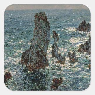 クロード・モネ 美女Ile 1886年の石 スクエアシール
