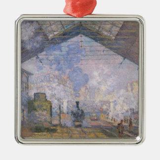 クロード・モネ| Gare St. Lazare 1877年 メタルオーナメント