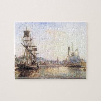 クロード・モネ- Honfleurの海港 ジグソーパズル
