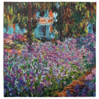 クロード・モネ: Monetの庭のアイリス ナプキンクロス