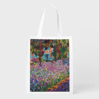 クロード・モネ- Monetの庭のファインアートのアイリス エコバッグ