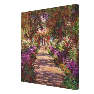 クロード・モネ| Monetの庭の細道 キャンバスプリント