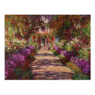クロード・モネ| Monetの庭の細道 ポストカード
