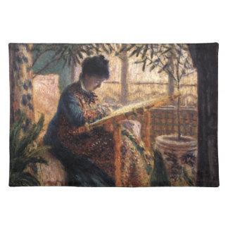 クロード・モネ: Monet Embroidering夫人 ランチョンマット