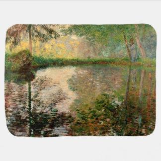 クロード・モネ: Montgeronの池 ベビー ブランケット