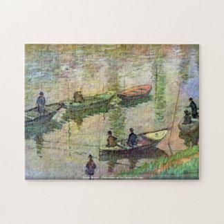 クロード・モネ- Poissyのセーヌ河の漁師 ジグソーパズル