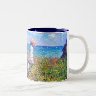 クロード・モネ: Pourvilleの崖の歩行 ツートーンマグカップ