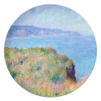 クロード・モネ: Pourvilleの近くの崖 プレート