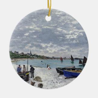 クロード・モネ  Sainte-Adresseのビーチ セラミックオーナメント