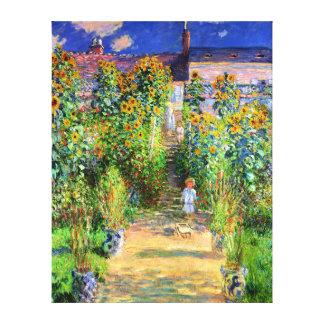 クロード・モネ: VétheuilのMonetの庭 キャンバスプリント