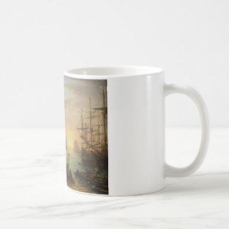 クロード・ロラン著日没の海港 コーヒーマグカップ