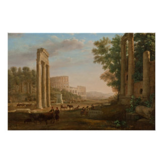 クロード・ロラン-ローマのフォーラムの台なし ポスター