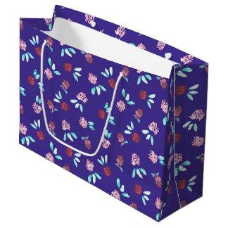 クローバーによっては大きい光沢のあるギフトバッグが開花します ラージペーパーバッグ