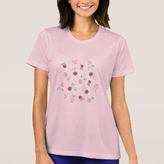 クローバーによっては女性の性能のTシャツが開花します Tシャツ