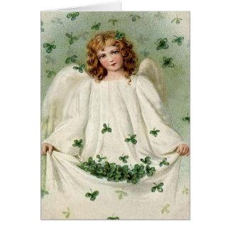 クローバーのセントパトリックの日カードとの天使 カード