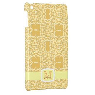 クローバーのダマスク織(黄色) iPad MINIカバー