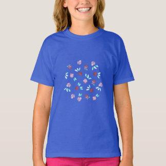 クローバーのフラワー・ガールのTシャツ Tシャツ
