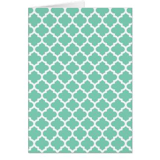 クローバーの格子格子垣パターン色 カード