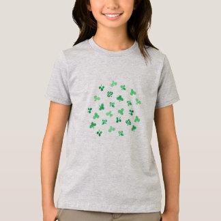 クローバーの葉の女の子の素晴らしいジャージーのTシャツ Tシャツ
