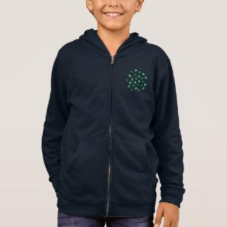 クローバーの葉の子供のジッパーのフード付きスウェットシャツ スウェットシャツ