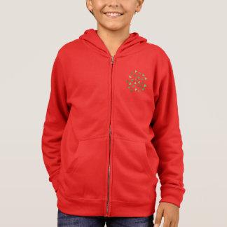 クローバーの葉の子供のジッパーのフード付きスウェットシャツ パーカ