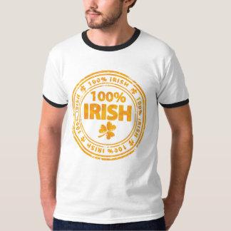 クローバーのTシャツを持つオレンジグランジなアイルランド語 Tシャツ