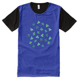 クローバーは印刷されたTシャツをくまなく人を残します オールオーバープリントT シャツ