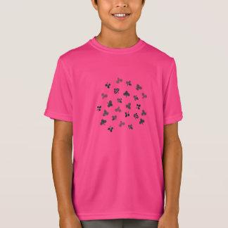 クローバーは子供のスポーツのTシャツを去ります Tシャツ