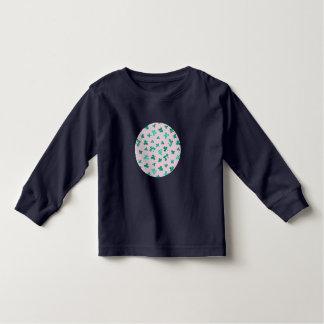 クローバーは幼児の長袖のTシャツを去ります トドラーTシャツ