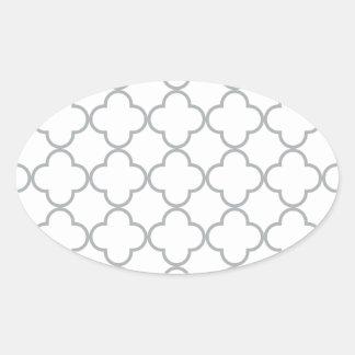 クローバーパターン1パロマ 楕円形シール