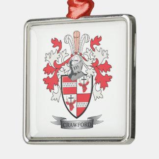 クローフォードの家紋の紋章付き外衣 メタルオーナメント
