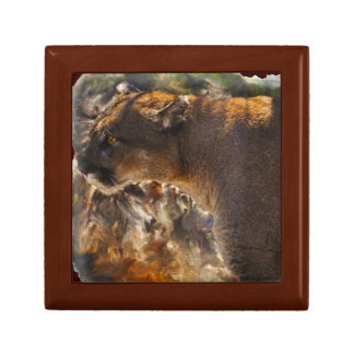 クーガーのオオヤマネコの大きな猫の芸術のデザイン4 ギフトボックス