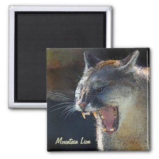 クーガーのオオヤマネコの大きな猫の芸術の磁石 マグネット