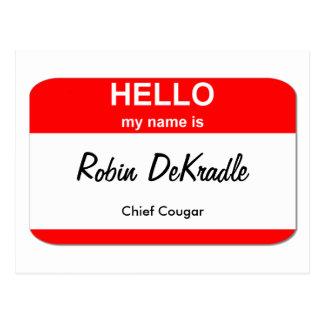 クーガーの女性 ポストカード