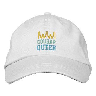 クーガーの女王の帽子 刺繍入りキャップ