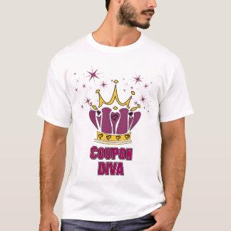 クーポンの花型女性歌手 Tシャツ