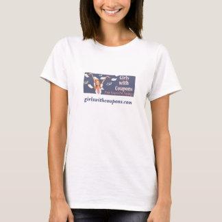 クーポンのTシャツを持つ公式の女の子 Tシャツ