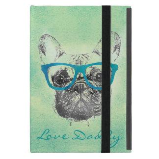 クールでおもしろいで粋なヴィンテージのフレンチ・ブルドッグの子犬 iPad MINI ケース